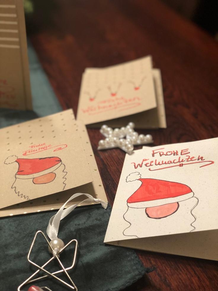 Weihnachtskarten Blanko.Weihnachtsvorbereitungen Diy Weihnachtskarten Elly S Do It Yourself